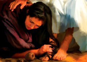Anointing Christs feet